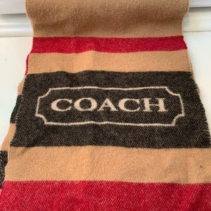 COACH cashmere wool blend scarf